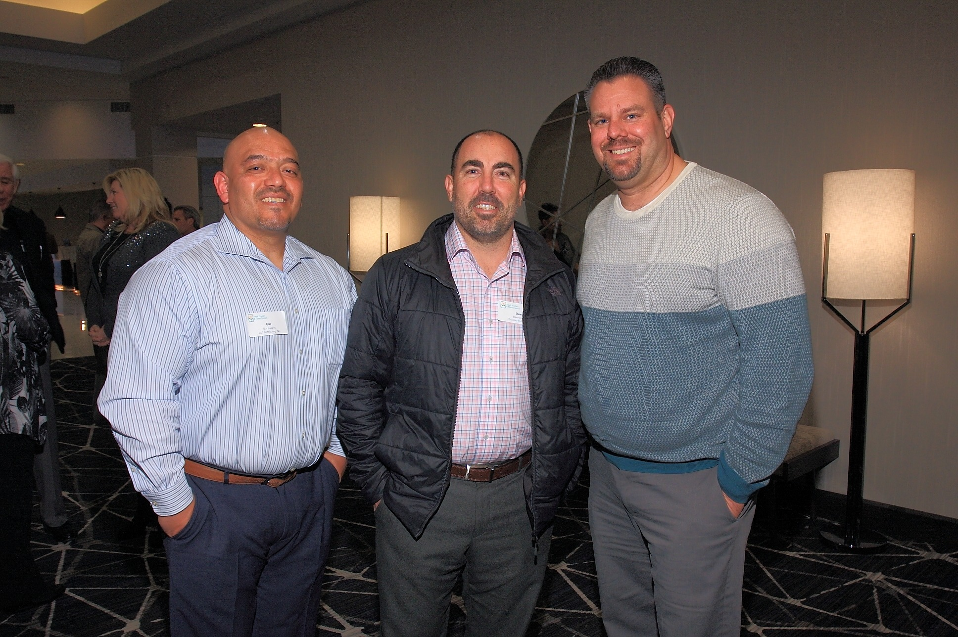 Gus Navarro and Dave Diego of CDS Distributing with Brian Cook of Pete's