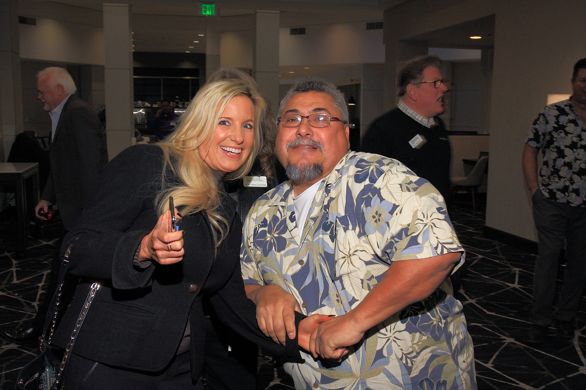 Krystin Lawson with Mike Rodriguez from Perimeter Sales & Merchandising