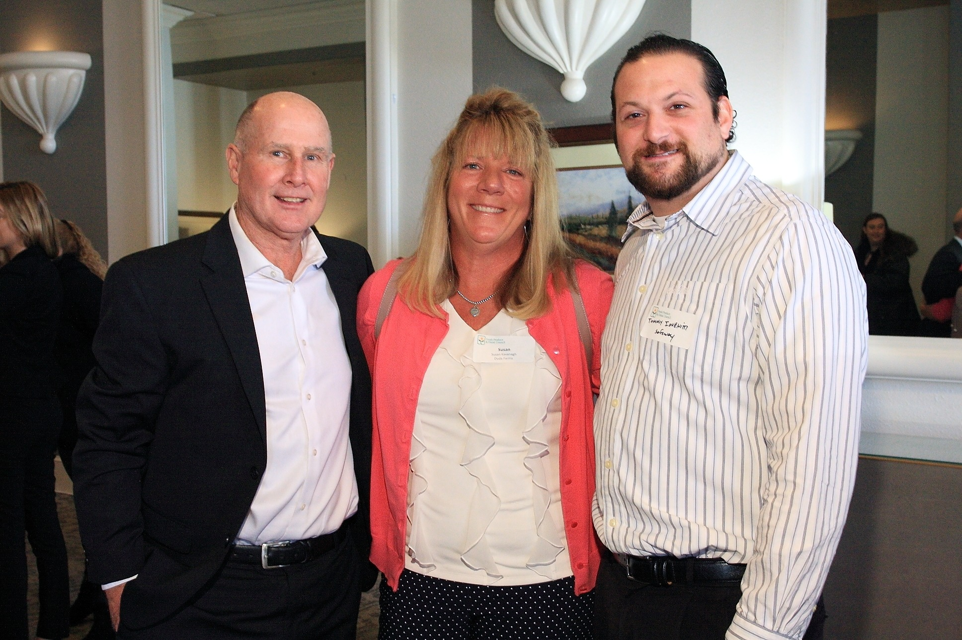 Davie Haubert of FreshSource, LLC with Susan Kavanagh from Duda Farms and Tommy Iovenitti from Safeway