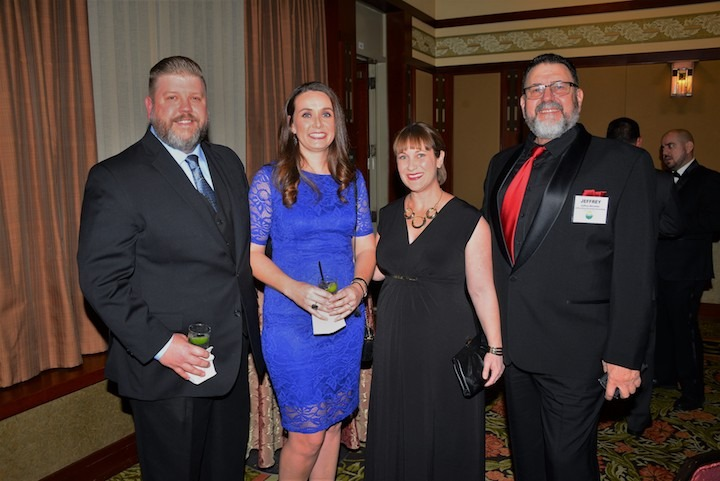 Sean and Michelle McClure of Bonduelle Fresh Americas, Home of Ready Pac Foods, with Kristen Reid of MIXTEC Group and Jeffrey McLellan of Jeffrey McLellan Credit Consulting