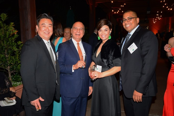 Anto Kamarian from Cigars by Chivas (second from left) with Parker Nishi, Sonia Sigur and Carlos Preciado from Melissa's World Variety Produce
