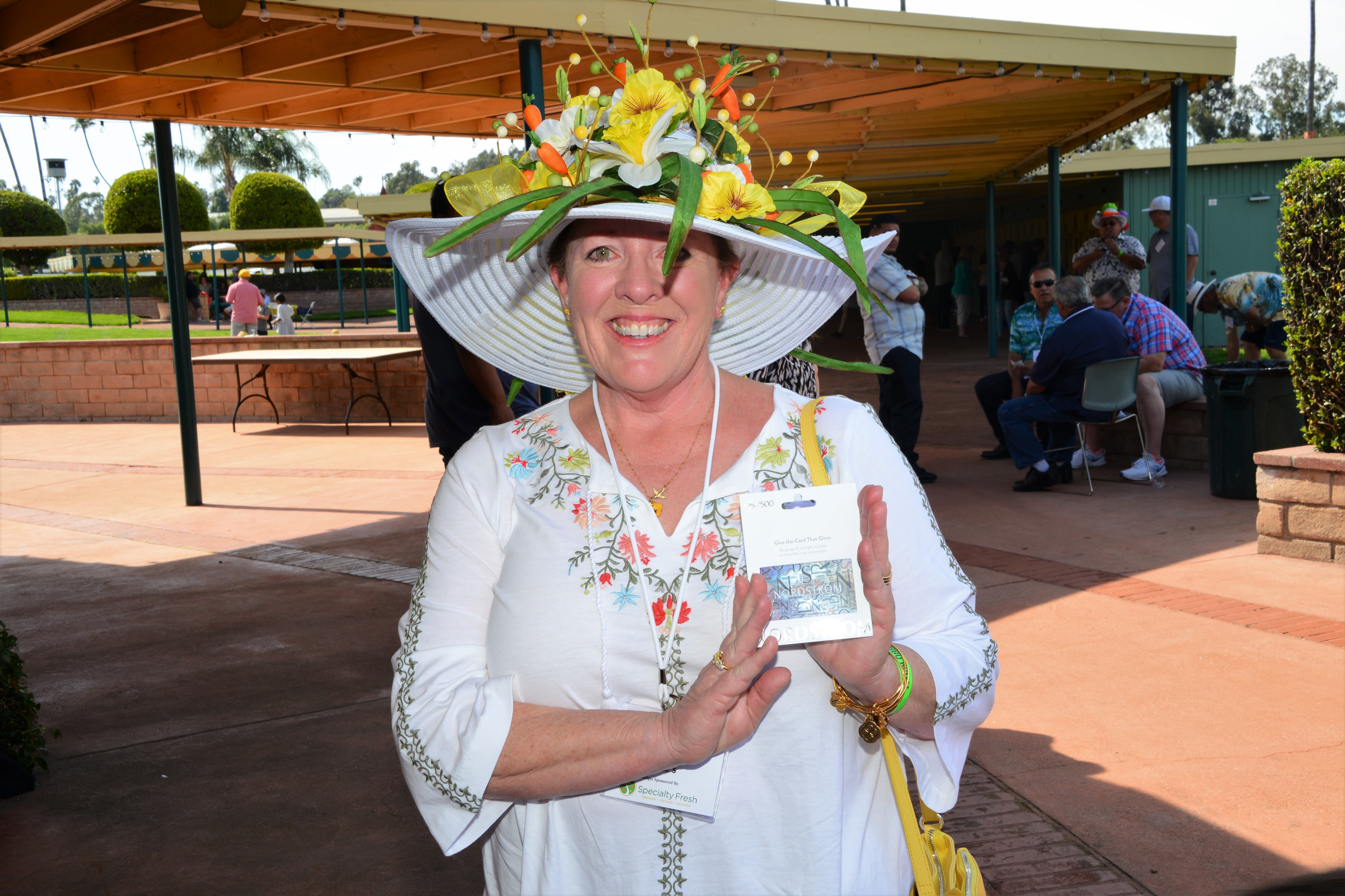 Annie Fortuna from Pete's won the Ladies Hat Contest