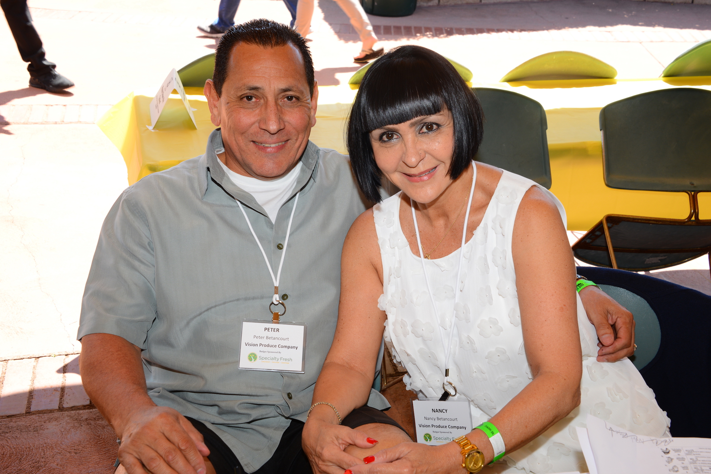 Peter and Nancy Betancourt from Vision Produce Company