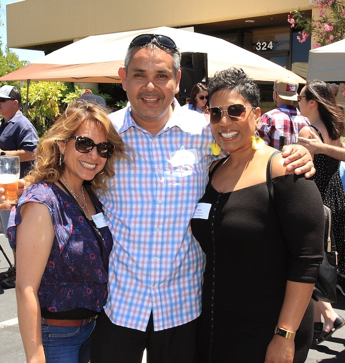Patty and Baltazar Garcia from Pete's with Myisha Nathaniel from Raley's Supermarkets
