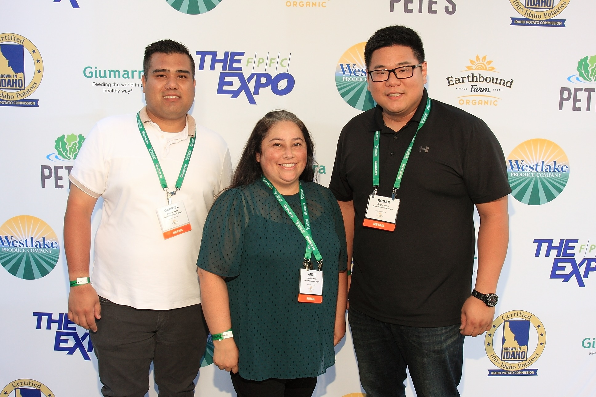 Gabriel Avila, Angie Carlos and Roger Yang from Jetro/Restaurant Depot