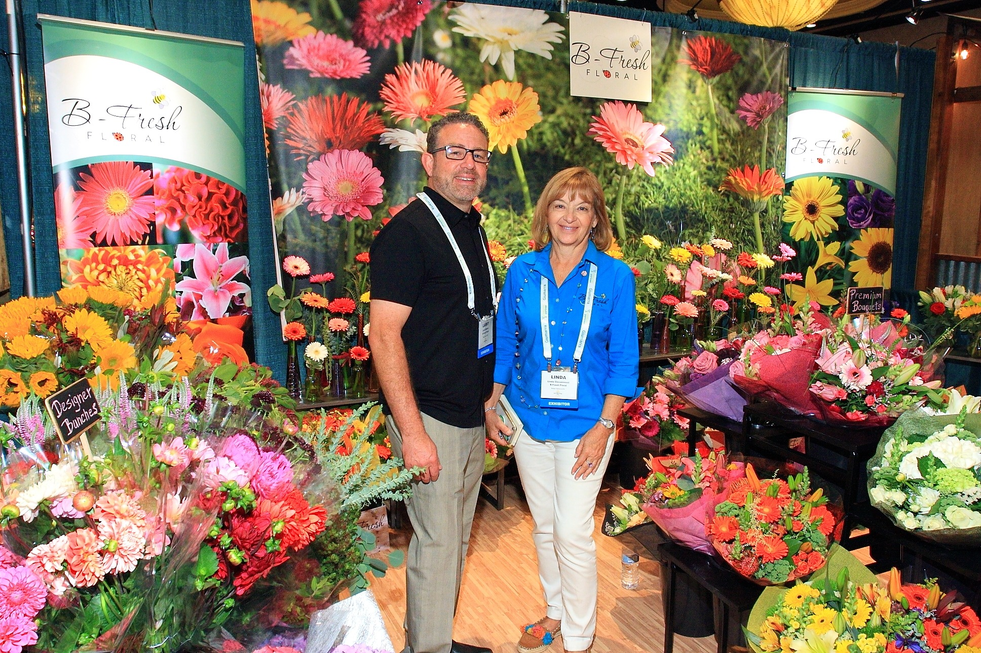 Larry Mercer and Linda Giovanni from B-Fresh Floral