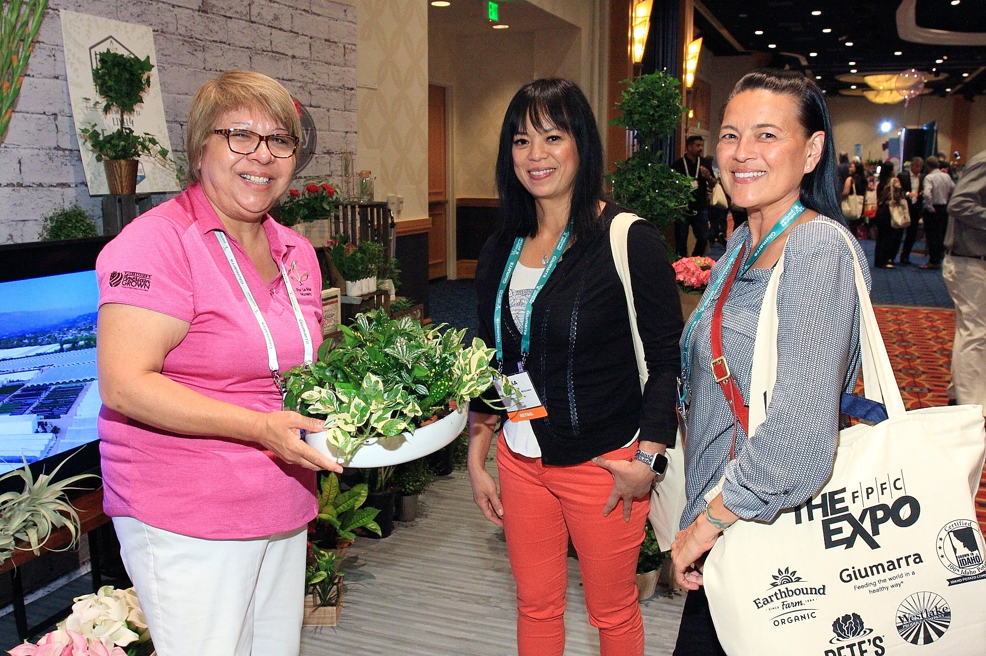 Tish Martinez from Por La Mar Nursery with Rosa Tong and Stacey Iturzaetz from Mother's Market & Kitchen