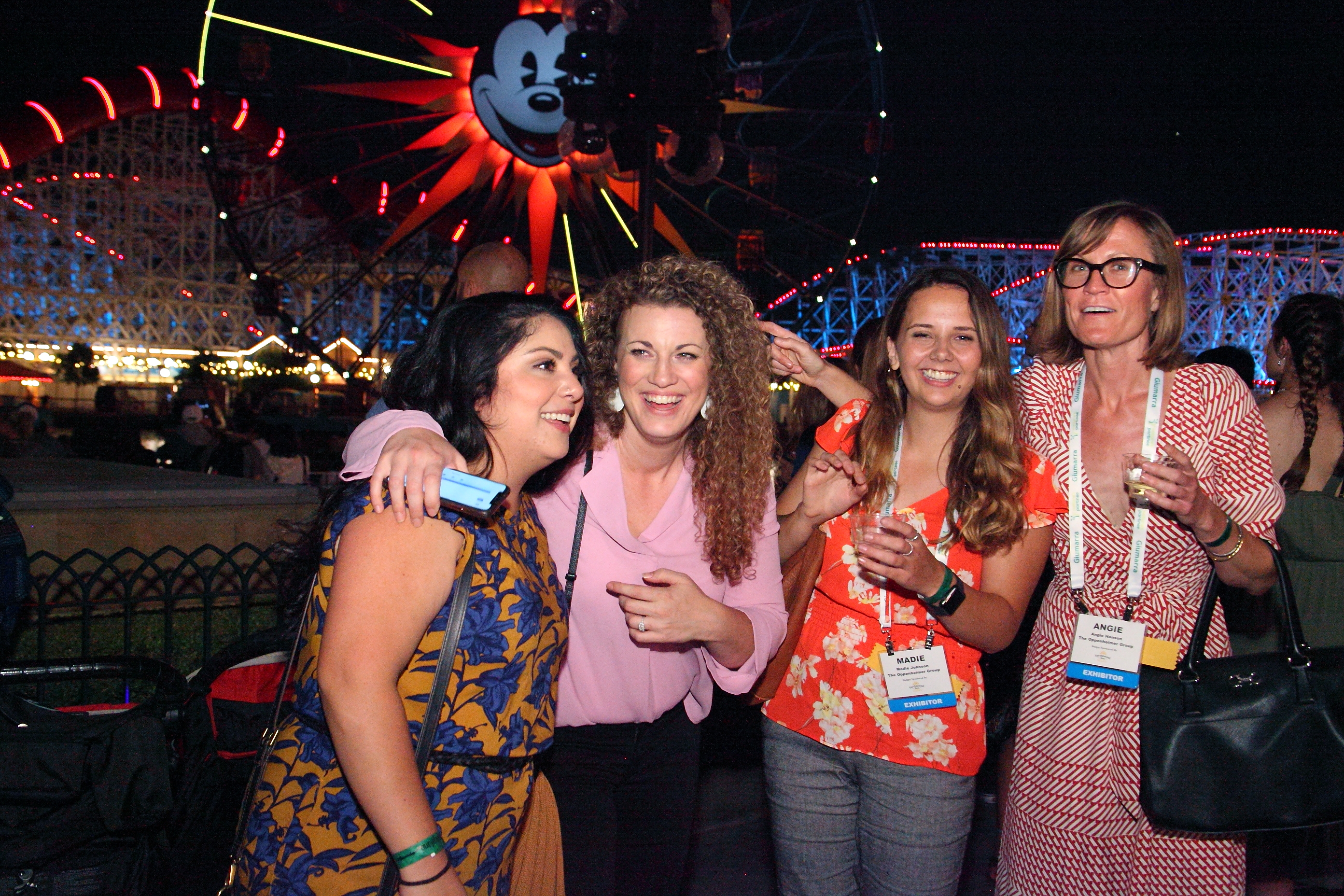 Ambar Rodriguez, Kori Martin, Madie Johnson and Angie Hanson from The Oppenheimer Group are eager for World of Color to begin