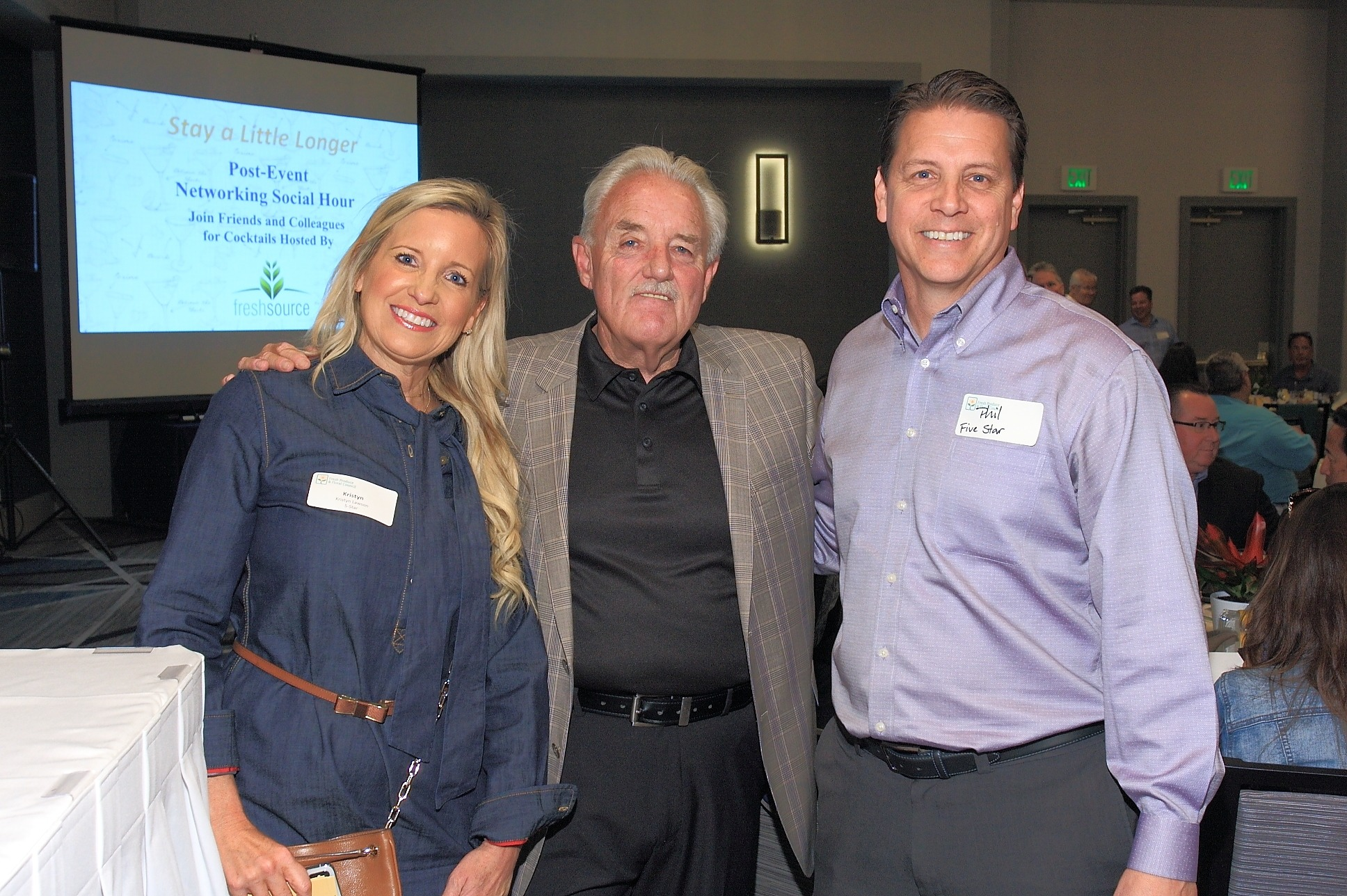 Pat McDowell, Perimeter Sales and Merchandising (center) with Krystin Lawson and Phil Abreao of FiveStar Gourmet Foods