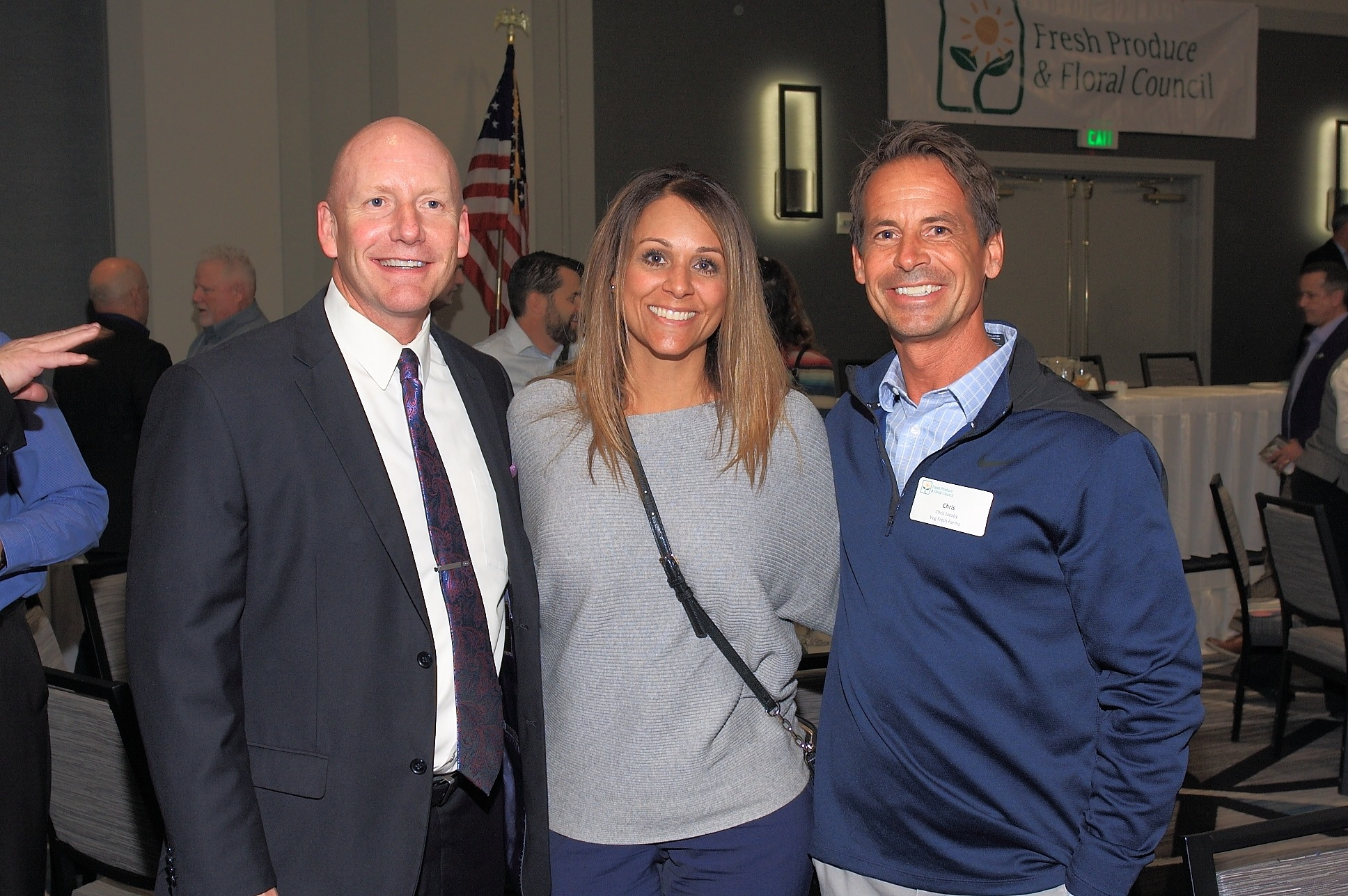 Don Gann, Stater Bros. Markets; Sheryl Salazar, Albertsons/Vons/Pavilions; and Chris Jacoby, Veg Fresh Farms