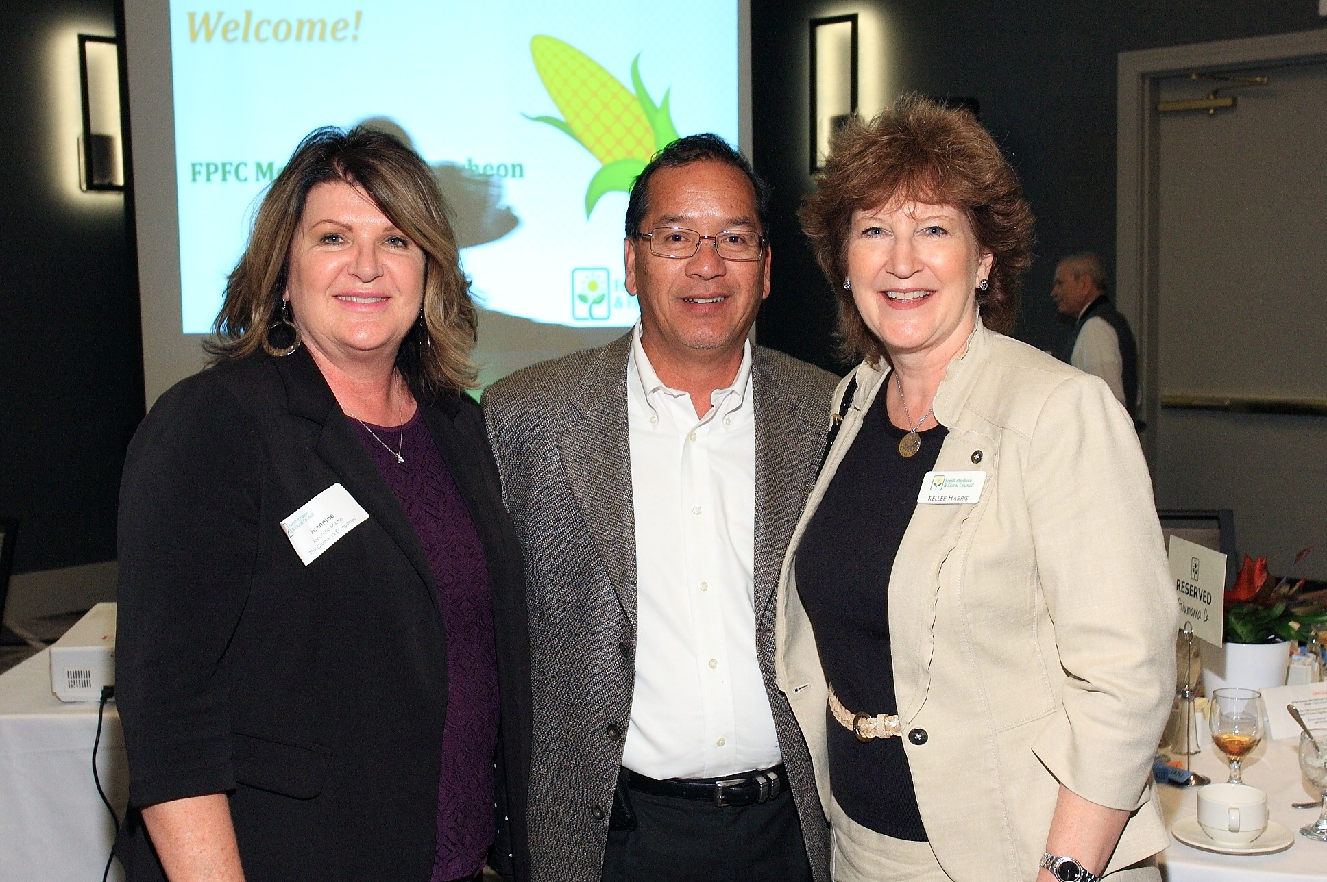 Rick Cruz of Pavilions with Jeannine Martin and Kellee Harris of The Giumarra Companies