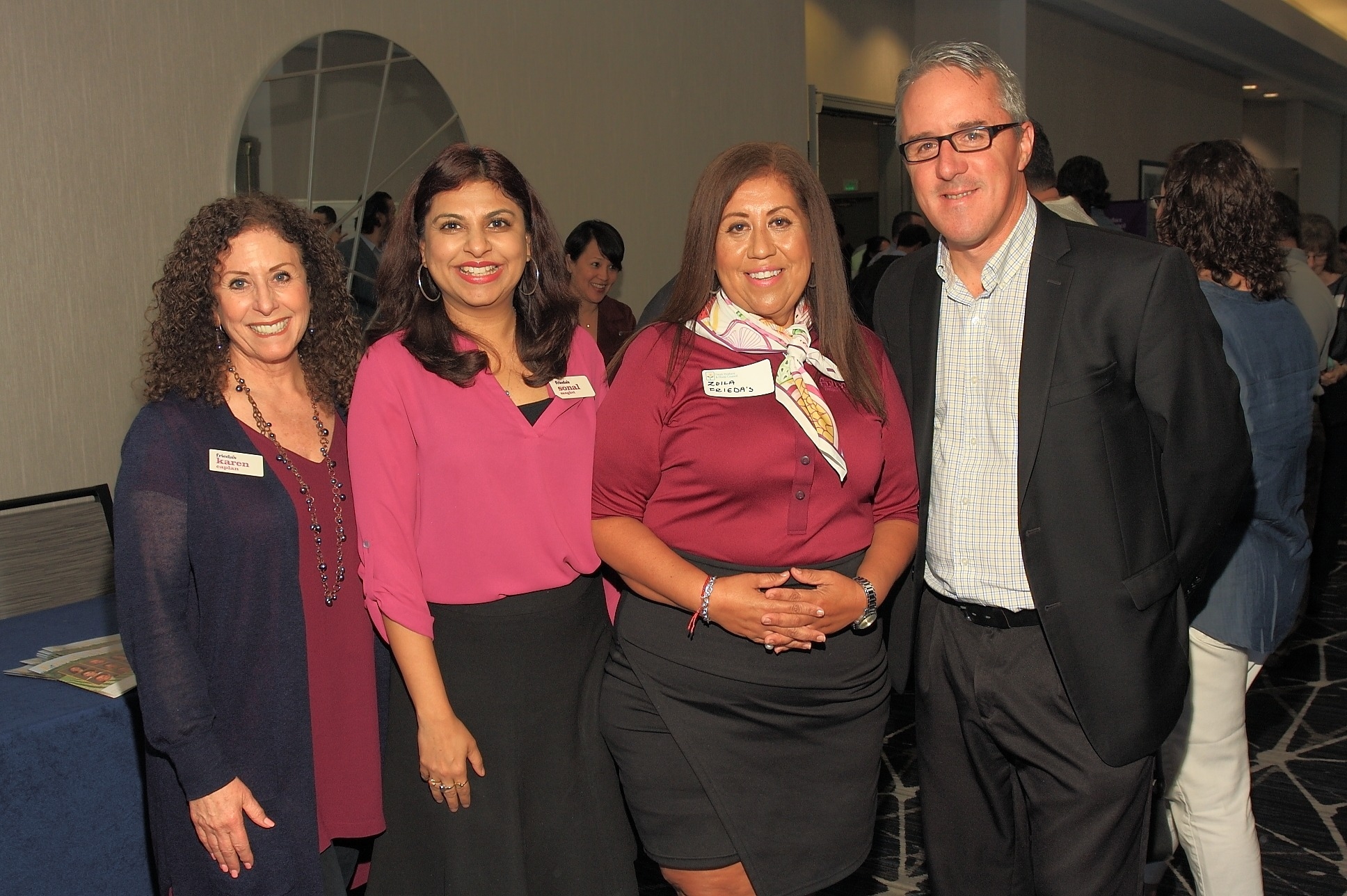 aren Caplan, Sonal Sanghvi and Zoila Medina of Frieda's Inc. with Paul Kneeland of Gelson's Markets.