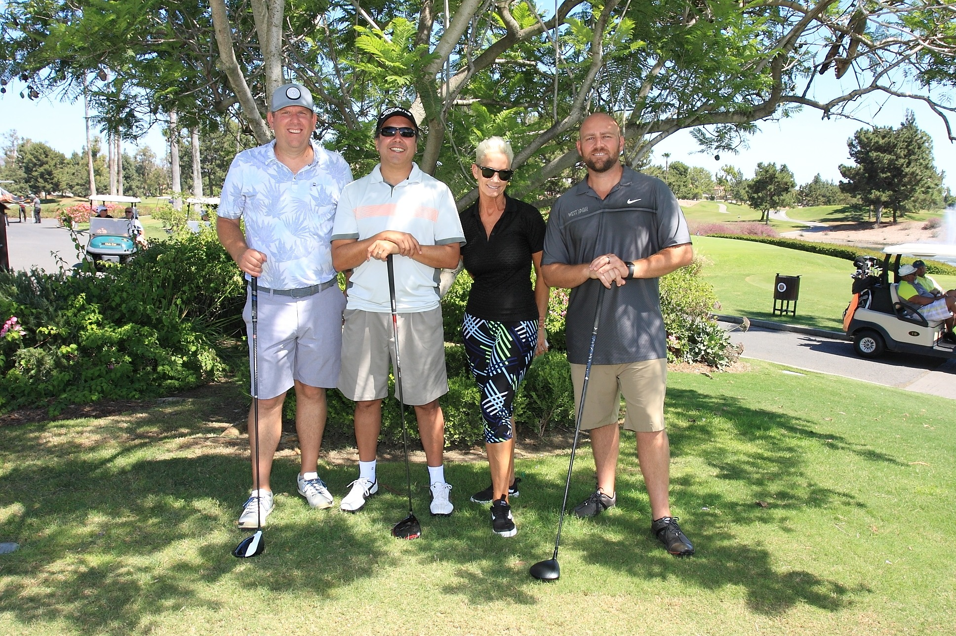 1st Place Foursome Team Chad Miller, Felipe Villa, Susie Rea and Heath Shoup of West Pak Avocado.