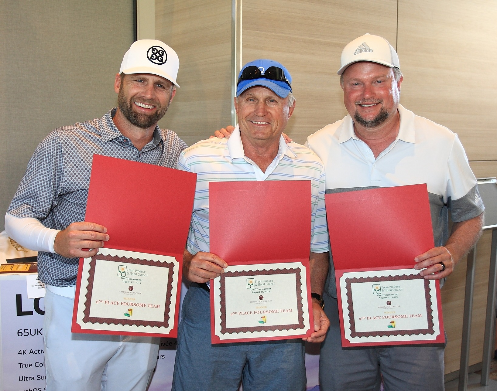 2nd Place Foursome Winners Adam Laliberte, Bill Laliberte and Todd Butler of WJL Distributors. Not Pictured: Shonna Williams, Superior Grocers
