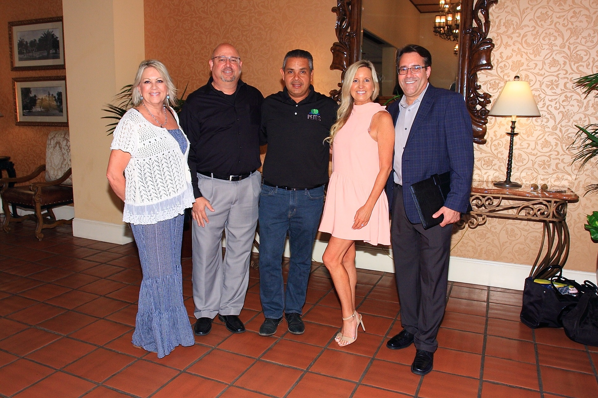 Laurie Fitch and Gary Ruggiero of Raley's Supermarkets, Baltazar Garcia of Pete's, Kristyn Lawson of Krissy Farms, and Kip Martin of Raley's Supermarkets.