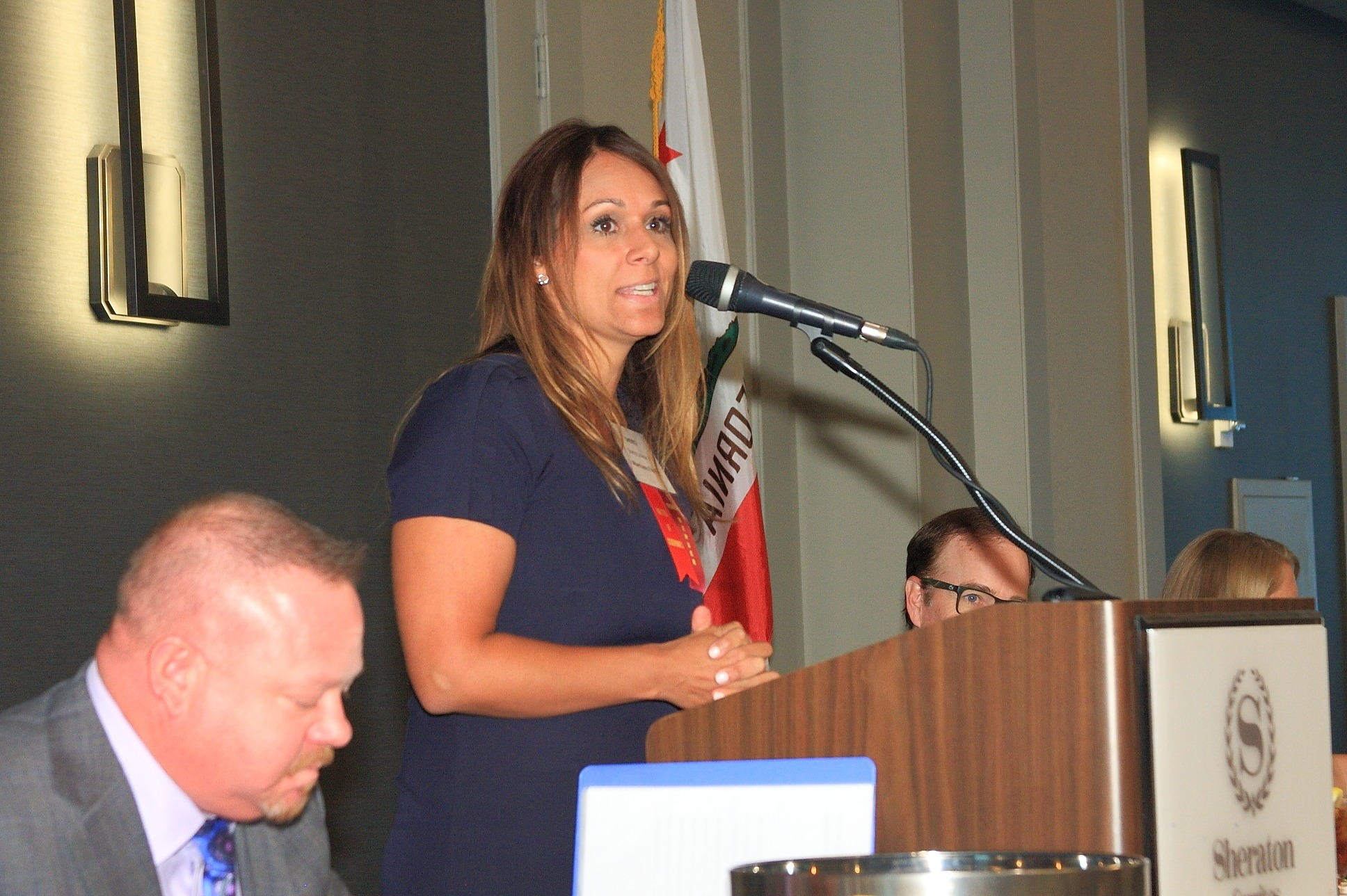 Master of Ceremonies Sheryl Salazar of Albertsons/Vons.