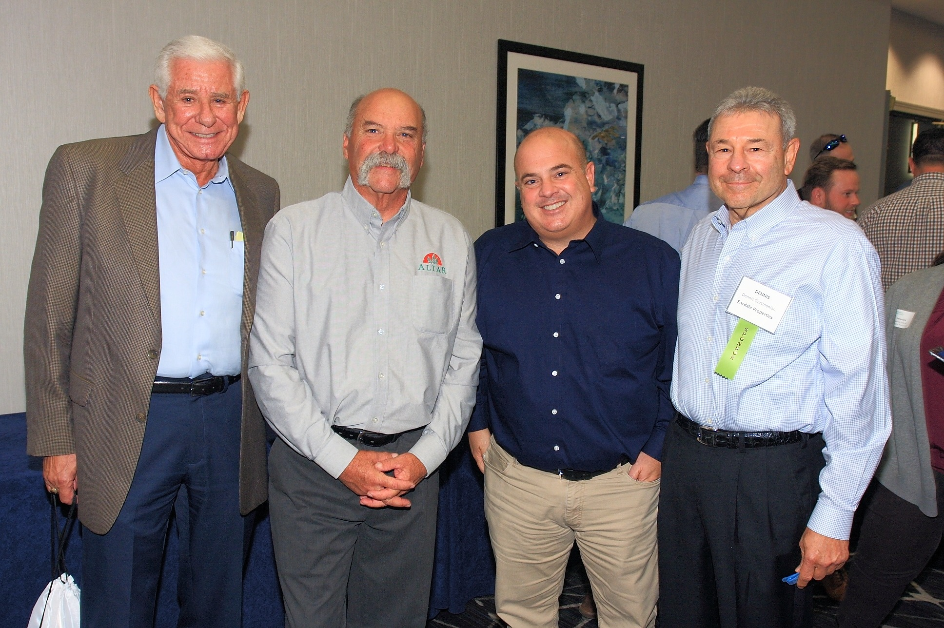 Dick Spezzano of Spezzano Consulting Service, Dino Iacovino of Altar Produce, LLC.; Dominic DeFranco of Progressive Produce, LLC; and Dennis Gertmenian of Foxdale Properties.